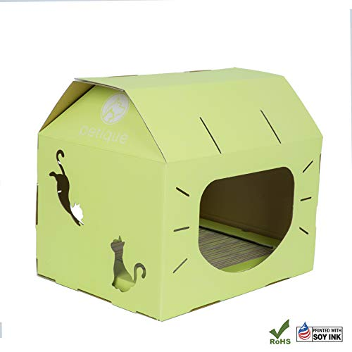 PETIQUE Ch01400203 Feline Loft-Wasabi Cat Houses, Wasabi, One Size