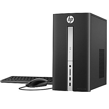 HP Pavilion Desktop Tower- Quad Core Intel i7-6700T Processor up to 3.6GHz, 8GB DDR4 Memory, 1TB 7200rpm HDD, DVD±RW, 802.11ac, Bluetooth, HDMI+VGA Dual Monitor Support, Windows 10