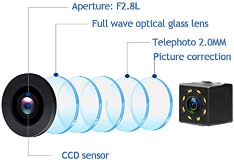 aSATAH 12 LED Car Rear View Camera for Toyota 4Runner//Hilux Surf 2002~2010//Toyota Fortuner SW4 //Toyota Innova /& Waterproof and Shockproof Reversing Backup Camera 12 LED