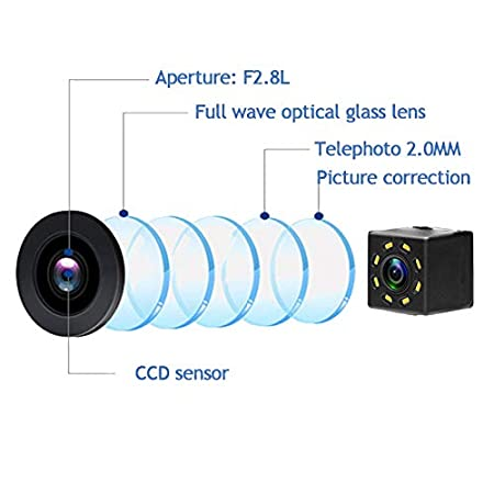 aSATAH 2.4G Wireless Car Rear View Camera for Nissan Tiida//Versa Hatchback//Grand Livina//Pulsar//Fairlady Z /& Vehicle Camera Waterproof Reversing Backup Camera 8 LED