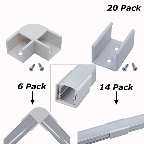 Litever 90 Degree Corner Connectors for Deep Square Aluminum LED Channel (ASIN: B01IY1L2B2) Corner Connection/Joint LL-007-90A (Connector Square Corner)