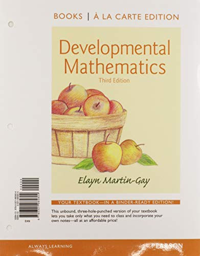 Developmental Mathematics Books a la Carte Edition Plus NEW MyLab Math with Pearson eText -- Access Card Package (3rd Edition)