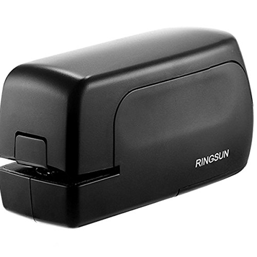Ringsun Office School Electric Paper Stapler Automatic 20 Sheet Capacity AC or Battery Power Black (Electric Booklet Stapler)