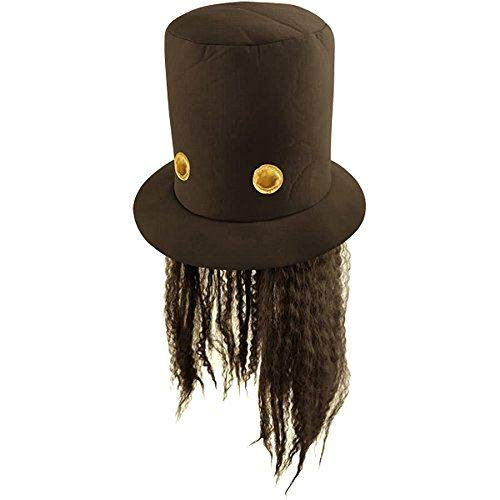 40608df6 80s Slash Guitar Hero Fancy Dress Hat and Wig: Amazon.co.uk: Toys & Games