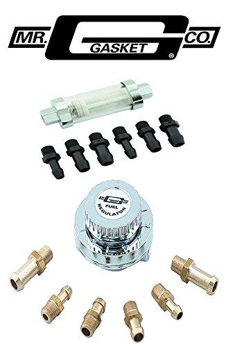 Mr Gasket 9710 Universal Adjustable 1-6psi Fuel Pressure Regulator & Filter Kit