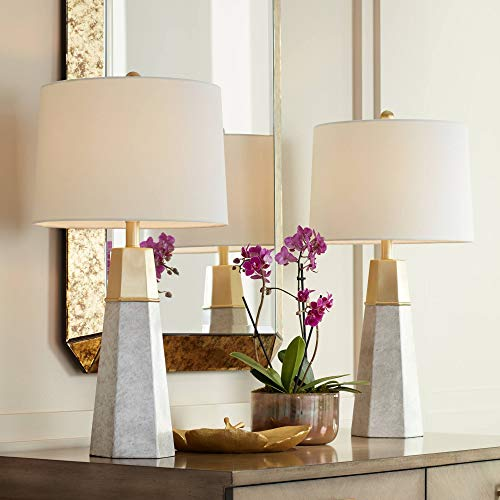 Julie Tapered Column Table Lamps Set of 2-360 ()