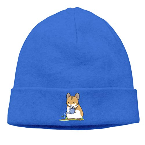 - Skully Beanie Wool Knitted Cap Hamster Animal Leaf Warm Hat Daily Slouchy Hats Crease Knit Beanies Skull Cap Blue