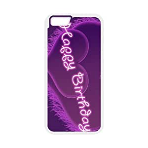 Purple Happy iPhone 6 Plus 5.5 Inch Cell Phone Case White TQ7197051