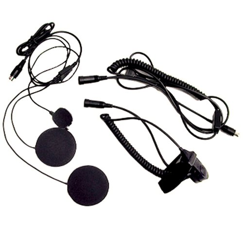Midland AVPH2 Closed Face Helment Headset for Midland GMRS - Two Way Radio Helmets