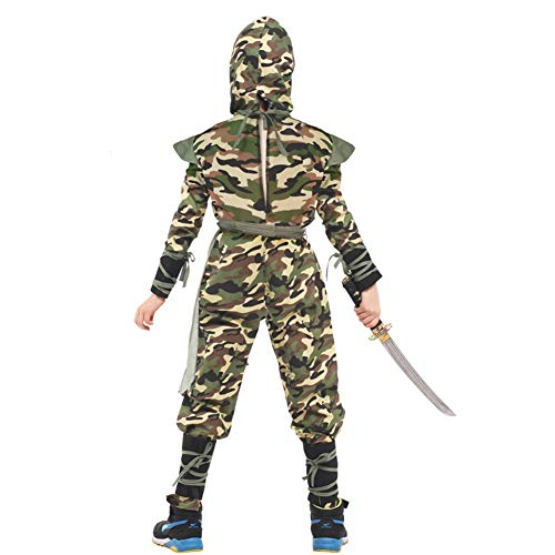 WSJKL Halloween Costumes Military-Uniform Camouflage Ninja Style for Kids boy Party Performance Stage Play ()
