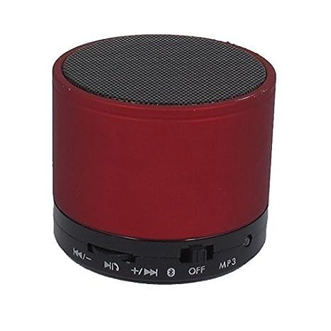 MP3 Teléfono portátil Bluetooth inalámbrico recargable Mini altavoz Rojo