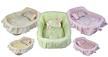Cesta, cama princesa para Perro Chihuahua, Yorkshire, perro, gato – Rosa
