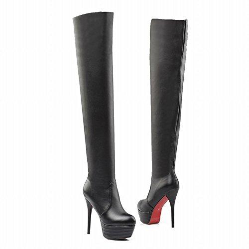 Sold Women's Platform Stiletto Boots Black Long Carolbar Fashion High Color Heel ZTqZ5x1w4