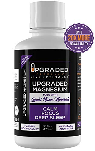 Upgraded Magnesium, Keto, Paleo, Liquid Nano Minerals, Deep Sleep, Adrenal Fatigue (Melatonin & Stress Support, Muscle Soreness Relief, Constipation, Headaches) Nano Mag Chloride Supplement, 16oz