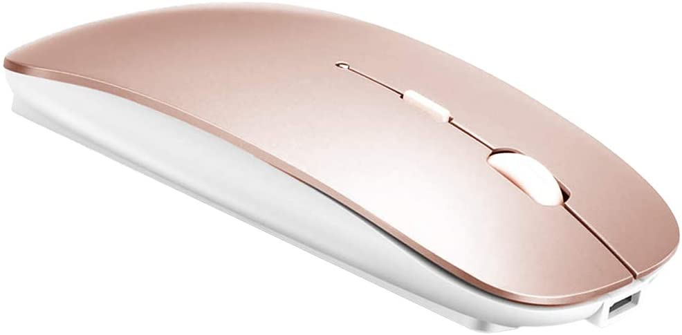 Bluetooth Mouse for MacBook pro/MacBook air/iPad/Laptop/iMac/pc, Wireless Mouse for MacBook pro MacBook Air/iMac/Laptop/Notebook/pc (BT/Rose Gold)