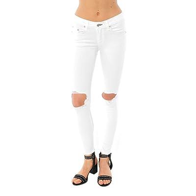 rag & bone Womens Cropped Capri Jean - White w/Holes Size 28 at Women's Jeans store