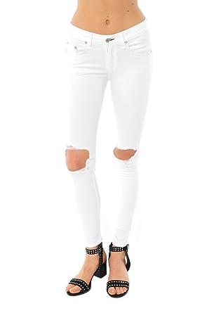 950afb6b6fd rag & bone Bright White Capri Jeans With Holes at Amazon Women's ...