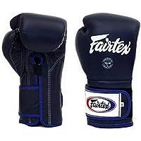 Fairtex Muay Thai Boxing Gloves BGV9 - Heavy Hitter Mexican Style - Minor Change Navy Blue 12 14 16 oz. Training & Sparring Gloves for Kick Boxing MMA K1