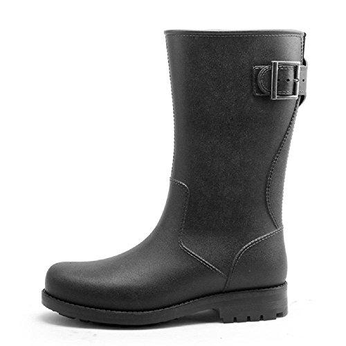 Primavera y verano Pesca Zapatos Impermeable Antideslizante Lluvia Botas Al Adulto Lluvia Zapatos Black
