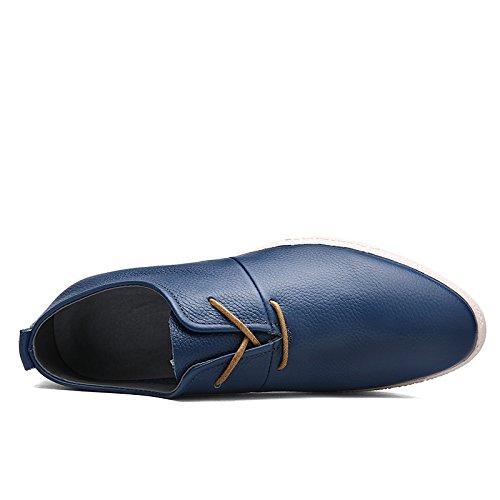Abby 8096 Mens Dress Shoes Lace-up Fashion Casual Formale Da Sposa Brogue In Pelle Smart Scarpe Da Skateboard Blu