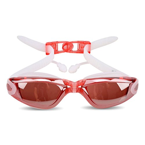 ZHJING buée étanche Femmes natation Lunettes placage Pink Transparent Anti HD et Couleur Black Cadre de Hommes Miroir Grand 8gW81nqOX