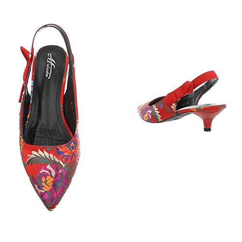 chaussures Multi 55 Rot Femme femme 50710 B escarpins qXwR5x6