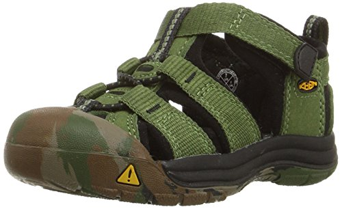 KEEN Little Kid (4-8 Years) Newport H2 Crushed Bronze/Green Sandal - 11 M US Little - Bronze Green And
