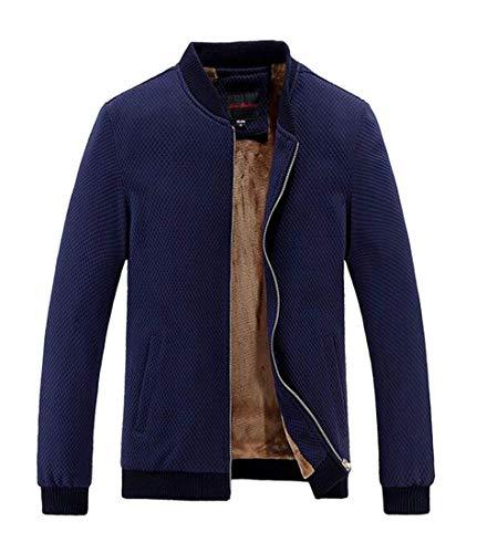 À Homme Hommes Pour De Polaire Vêtements Col Bleu Roulé Manteau Rond Doublé Kangqi En PBxwIq7