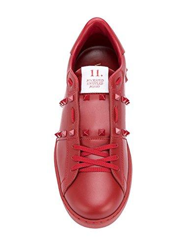Rot Garavani Sneakers Herren PY2S0931MZD0RO Leder Valentino 7Sx6qwdptq