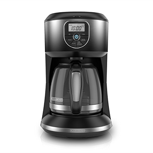 BLACK+DECKER 12-Cup Automatic Programmable Coffeemaker, Ombre Black, CM4002B