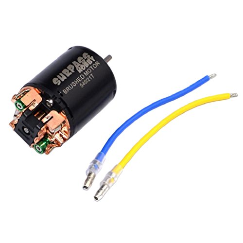 MonkeyJack 540 Magnetic Waterproof Brushed Motor 21T for 1:10 HSP HPI Traxxas RC Rock Crawler Car Parts
