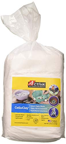 ACTIVA CelluClay Instant Papier Mache, 5 Pound