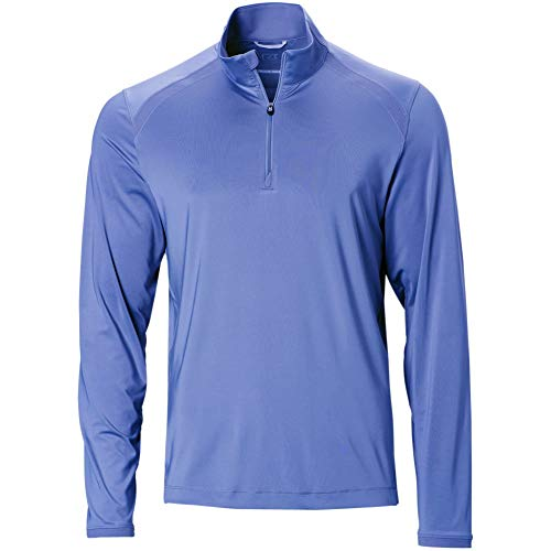 Cutter & Buck Mesh Pullover - Cutter & Buck Mens Williams 1/2 Zip Pullover Blue M