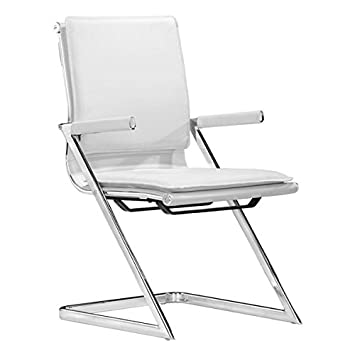 Zuo 215211 Lider Plus Conference Chair, White