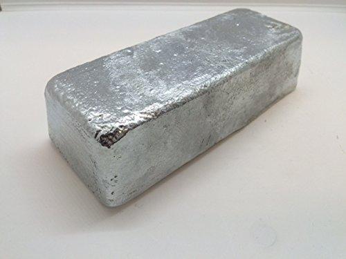 Zinc Ingot. 99% Pure Zinc - Iron Ingot Bar