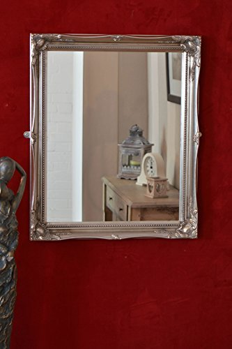 FRENCH SILVER Shabby Chic Antique Style MIRROR -Mirror Size: 16 inches x 20 inches (40cm x 50cm) by DOWNTON INTERIORS by DOWNTON INTERIORS