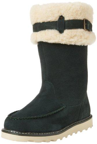 Bearpaw Womens Avery Suede Wool Blend Moc-Toe Boot Evergreen