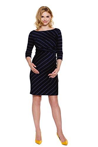 Mutterschafts Kleid mit Tummy Sheryl Stillkleid Schwarz Druck My q5PTzwA