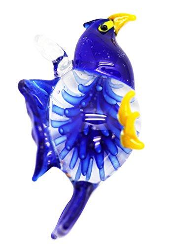 Eagle Glass Pendant - Dark Blue Colored Glass Eagle Pendant Charm