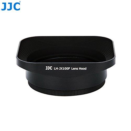 JJC LH-JX100F Black Black Metal Reversible Lens Hood and 49 mm Adapter Ring Kit for Fujifilm X100F X70 X100T X100S X100 Digital Camera