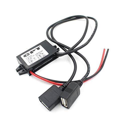 Ytesky 12V auf 5V 3A Dual USB Netzteil Inventor Buck Converter Step Down Module Transformator Adapter