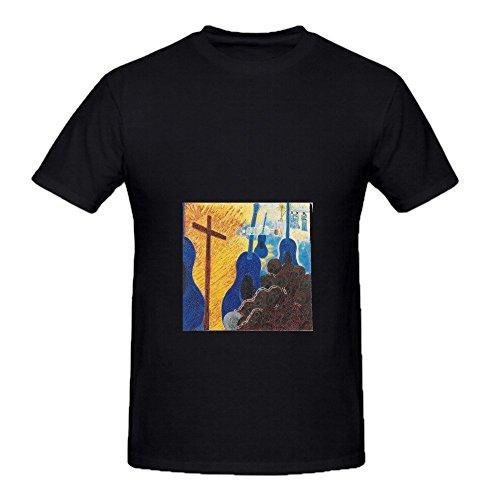 Chris Rea Blue Guitars Funk Men Crew Neck Music Tee Shirts Black