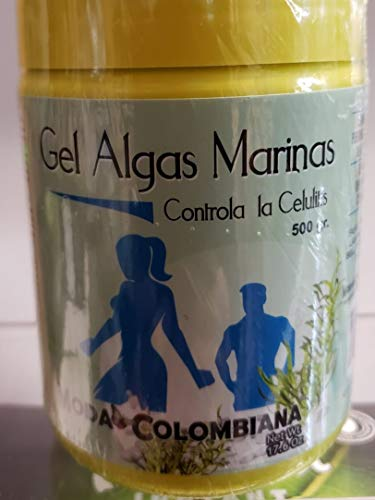- Moda Colombiana Gel Algas Marinas Contra La Celulitis/Sea Weed Gel Anti Cellulite 500g and 50mts Premium Osmotic Slimming Wrap for Men & Women (500g)