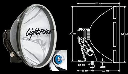 Lightforce RMDL Driving Light Blitz 240Mm, Hid Twin Pack 12V 35W Remote Gear 5000K