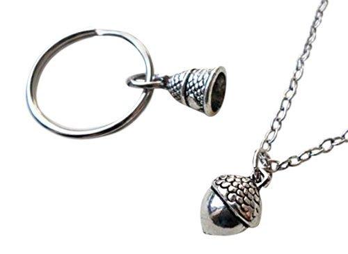 Acorn collar y dedal llavero Set - Peter Pan de Kiss; Las ...
