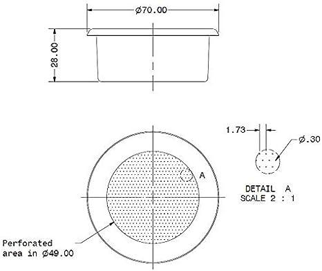 IMS E&B Lab Competition Series - Cesta de filtro de precisión (20 – 22 g, B702TFH28): Amazon.es: Hogar