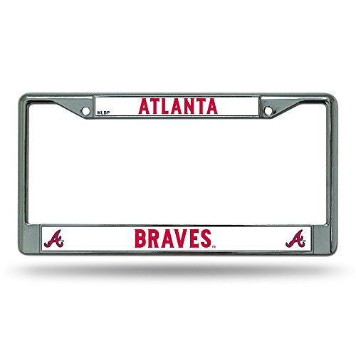 MLB Atlanta Braves Chrome License Plate Frame