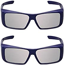 Super Clear 3D Reald Glasses for 3D Projector,Dream Theater, 3D TV and 3D Cinema(2PACK).