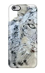 Iphone 6 Plus Snow Leopard Print High Quality Tpu Gel Frame Case Cover