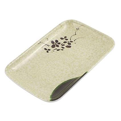 Bandeja del bocado del plato Placa de toallas alimento formó eDealMax patrón de flores del rectángulo
